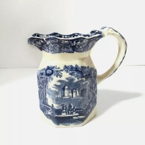 Masons vista Of England blue Transferware jug